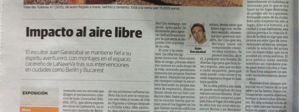"""Captura del reportaje """"Impacto al aire libre"""" en El Correo"""